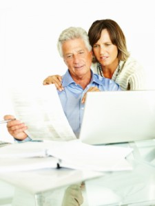 Mature couple looking for life insurance with RBP